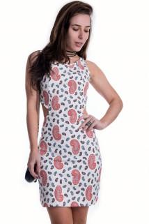 Imagem - Vestido Estampado com Recortes
