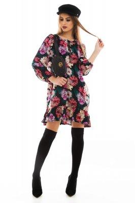 Imagem - Vestido Estampado Floral com Babado