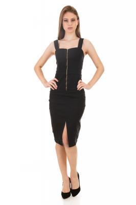 Imagem - Vestido Estruturado com Zíper
