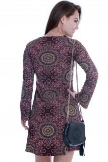 Imagem - Vestido Étnico com Decote Strappy