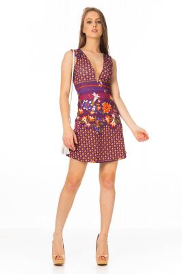 Imagem - Vestido Evasê com Detalhe de Tule