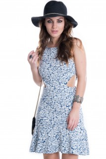 Imagem - Vestido Floral com Abertura