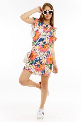 Imagem - Vestido Floral com Babados