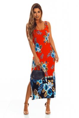 Imagem - Vestido Floral com Detalhe nas Costas