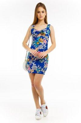 Imagem - Vestido Floral com Detalhe no Decote