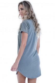 Imagem - Vestido Glitter com Estampa