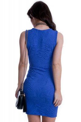 Imagem - Vestido Jacquard com Decote Transpassado