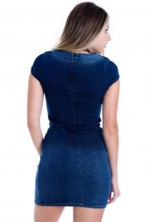 Imagem - Vestido Jeans Degradê com Estampa