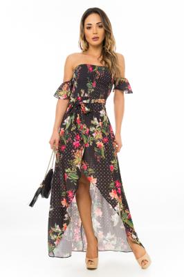 Imagem - Vestido Longo Floral