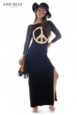 Imagem - Vestido Longo Paz e Amor