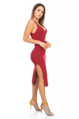 Imagem - Vestido Midi Alcinhas com Fenda