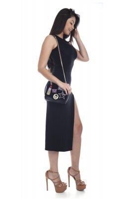 Imagem - Vestido Midi de Viscolycra com Decote Gota