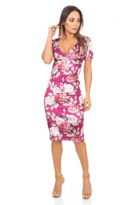 Imagem - Vestido Midi em Veludo Floral
