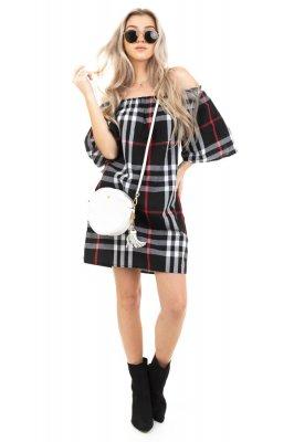 Imagem - Vestido Ombro a Ombro Xadrez
