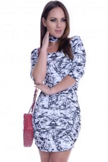 Imagem - Vestido Raglã com Gola