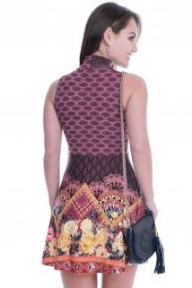 Imagem - Vestido Regata com Gola Rolê