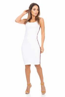 Imagem - Vestido Regata com Listra Lateral