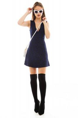 Imagem - Vestido Godê em Jacquard com Tule