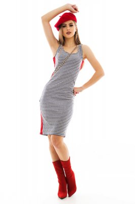 Imagem - Vestido Regata Estampado com Listra