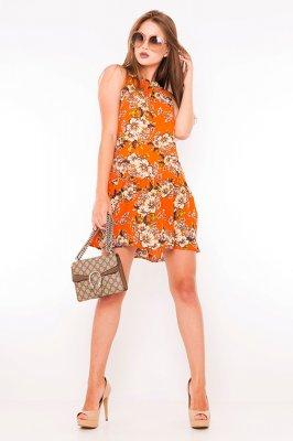 Imagem - Vestido Regata Floral com Babado