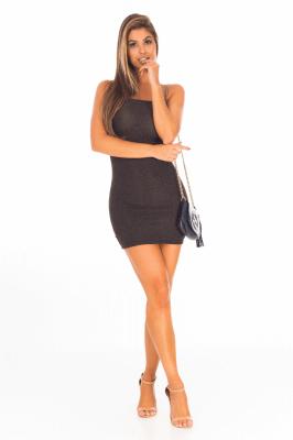 Imagem - Vestido Tomara que Caia em Lurex