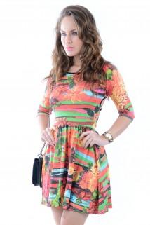 Imagem - Vestido Transpassado Estampado