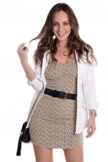 Imagem - Vestido Tubinho de Alça com  Lurex