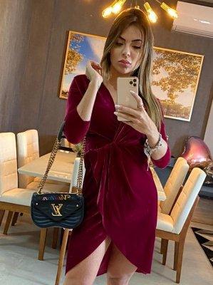 Imagem - Vestido Velvet com Transpasse