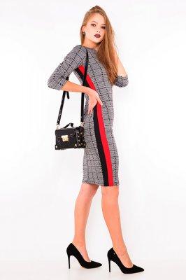 Imagem - Vestido Xadrez com Listras Laterais