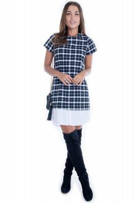 Imagem - Vestido Xadrez com Sobreposição