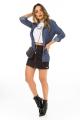 Blazer em Jeans Estampado 6