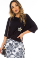 Blusa Ampla com Patch