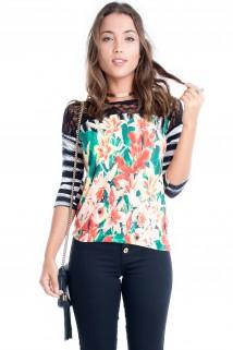 Blusa Floral com Renda 4