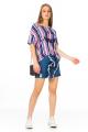 Blusa Listrada com Estampa Frontal 2