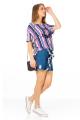 Blusa Listrada com Estampa Frontal 3