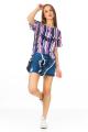 Blusa Listrada com Estampa Frontal 6
