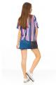 Blusa Listrada com Estampa Frontal 4