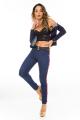 Calça Jeans Skinny com Listras Laterais 6