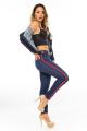 Calça Jeans Skinny com Listras Laterais 3