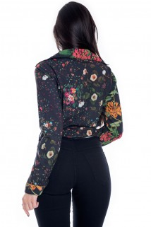 Camisa com Estampa Floral
