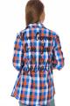 Camisa Xadrez com Lettering nas Costas