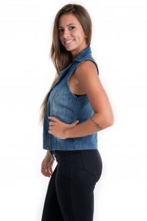 Colete Jeans com Zíper 3