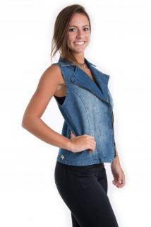 Colete Jeans com Zíper 4
