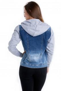 Jaqueta Jeans com Capuz 2