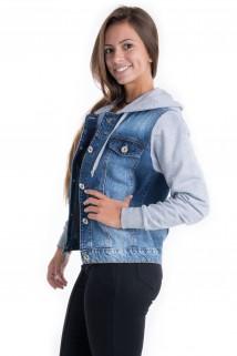 Jaqueta Jeans com Capuz 3