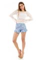 Shorts Estampado Floral com Babado 6