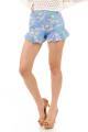 Shorts Estampado Floral com Babado