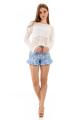 Shorts Estampado Floral com Babado 2