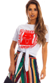 T-shirt com Estampa e Amarração