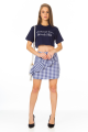 T-shirt Cropped com Lettering 5